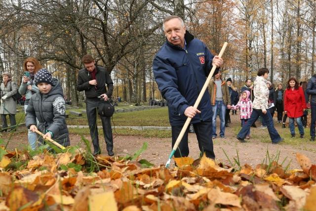Осенний субботник в Петербурге оказался «прохладным»