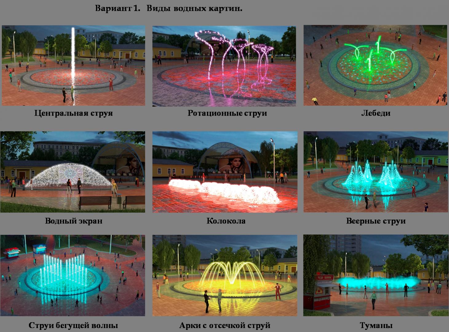 Первый вариант фонтана в Центральном парке