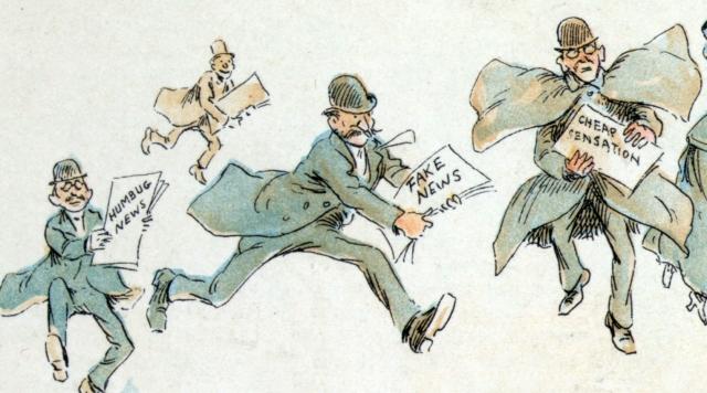 Фредерик Бурр Оппер. Репортеры с «фейковыми» новостями. 1894