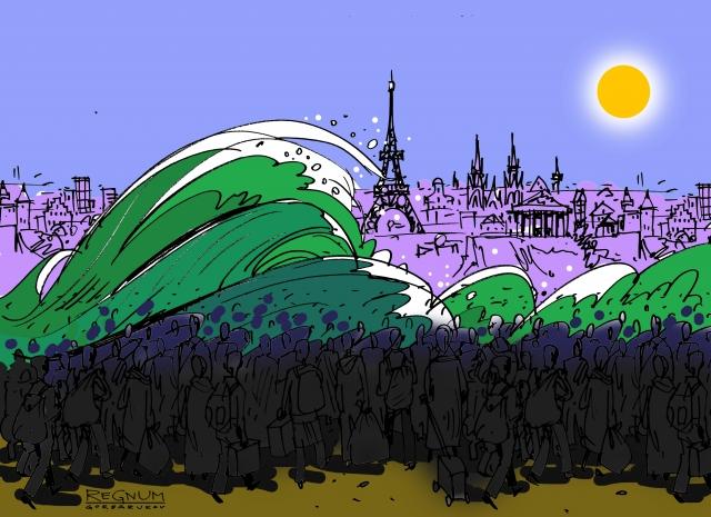Марин Ле Пен: Евросоюз на самом деле стремится к массовой иммиграции