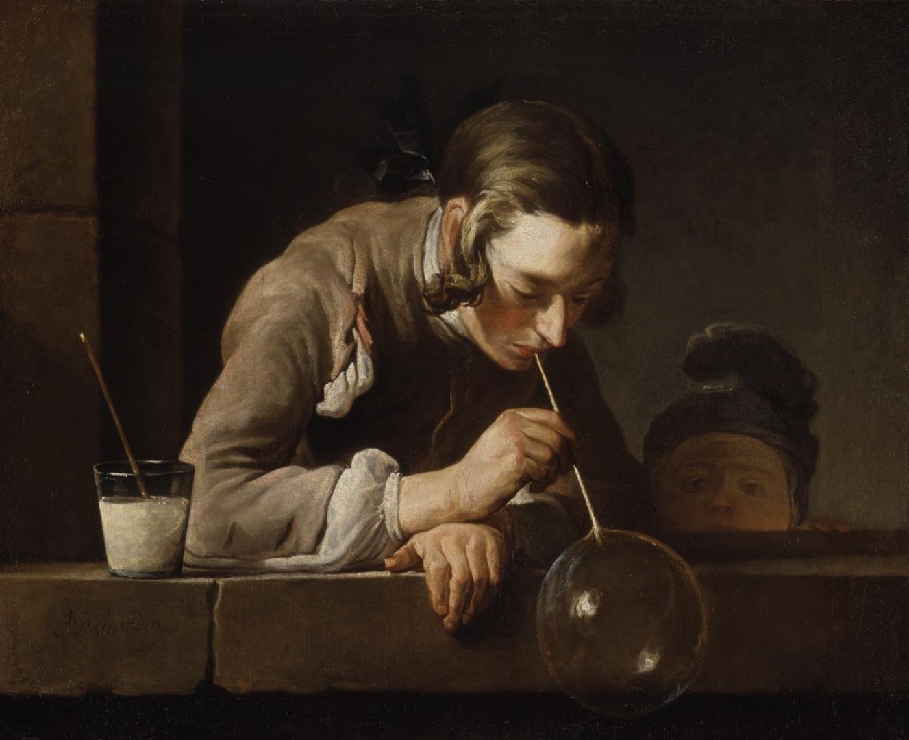 Жан Батист Симеон Шарден. Мыльный пузырь. 1734