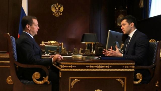 В Калининград прибыл премьер-министр РФ Медведев