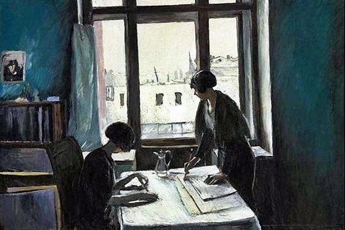 Константин Истомин. Вузовки (фрагмент). 1933