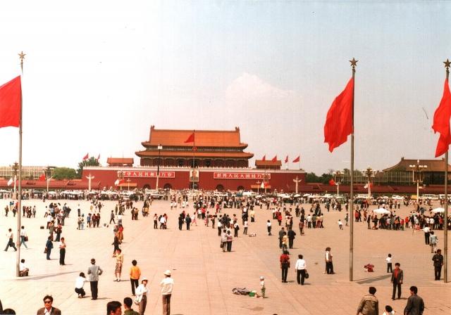 Площадь Тяньаньмэнь, где 4 июня 1989 года состоялось подавление студенческих протестов по приказу Дэн Сяопина