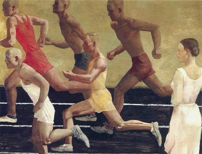 Александр Дейнека.  Бег (фрагмент). 1933