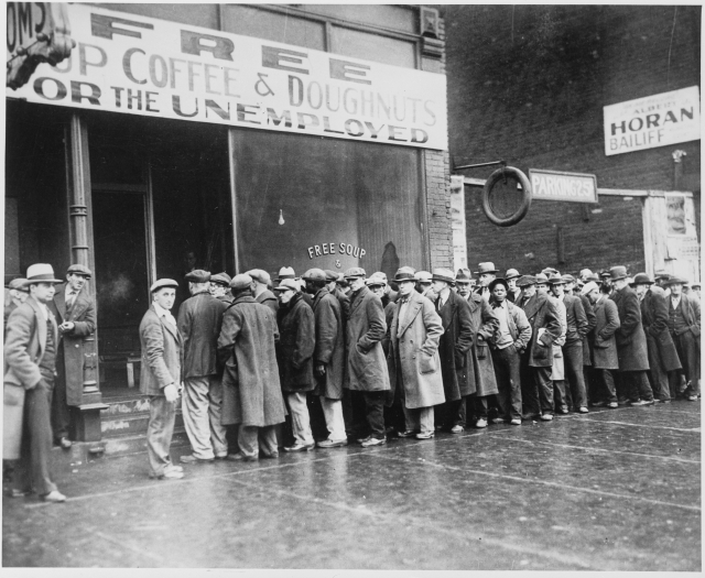 Очередь за едой в США. 1931 год