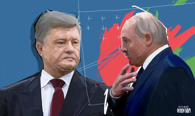 Порошенко нарушил протокол на встрече с главой Белоруссии