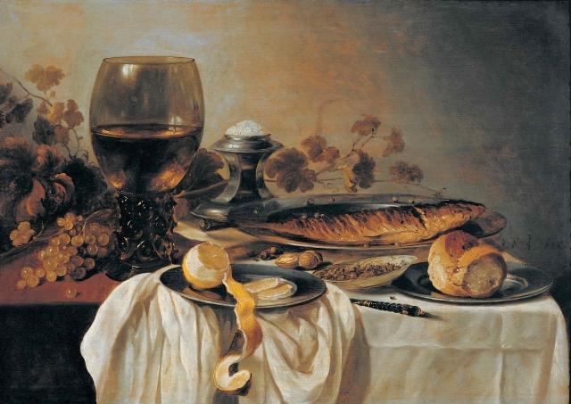 Питер Клас. Завтрак. 1646
