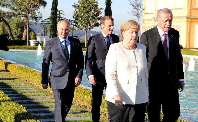 Встреча лидеров России, Турции, Германии и Франции