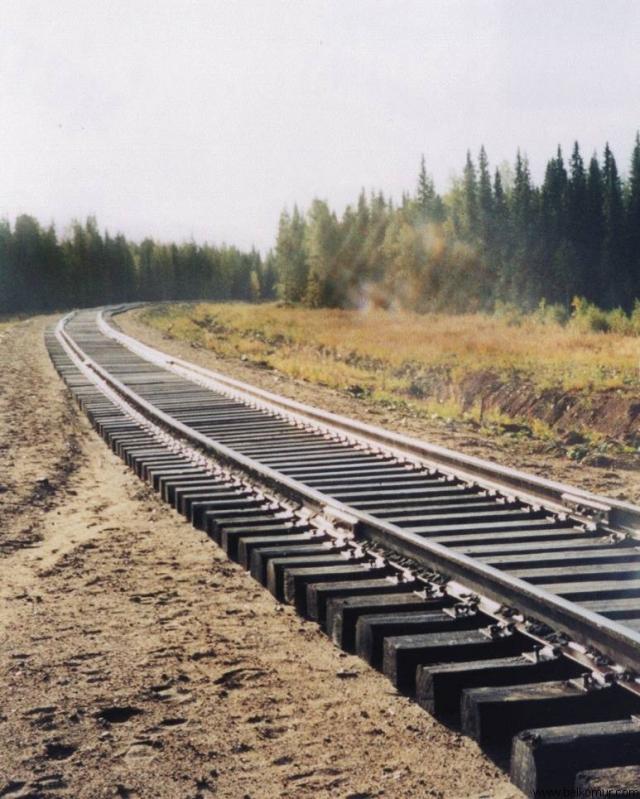 Участок железной дороги
