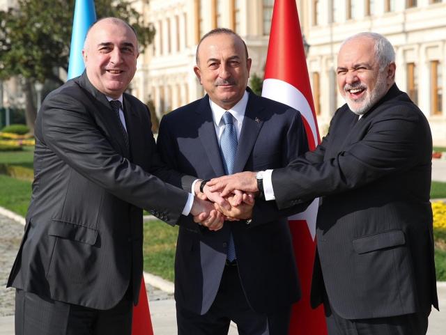 Министры иностранных дел Ирана, Азербайджана и Турции