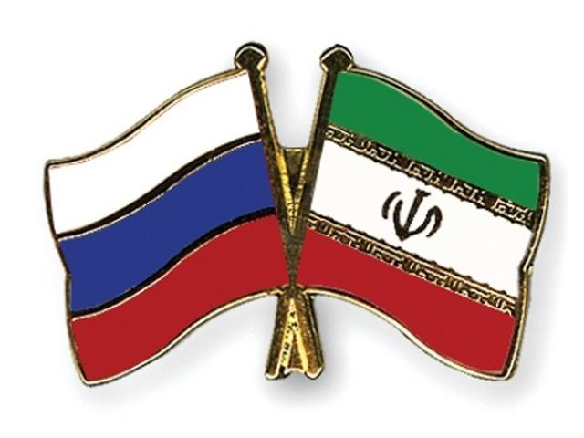 Флаги Ирана и России