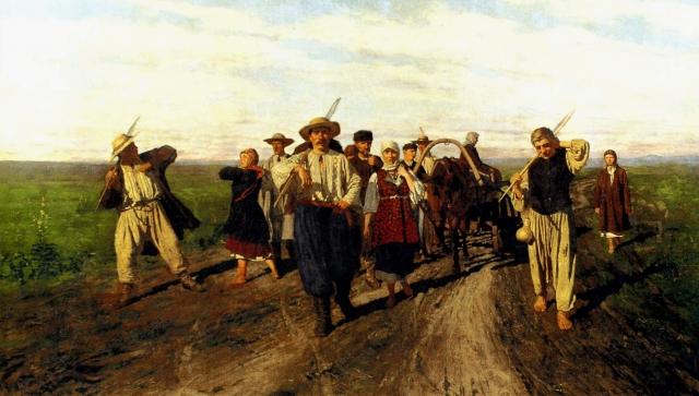 Николай Кузнецов. На заработки. 1882