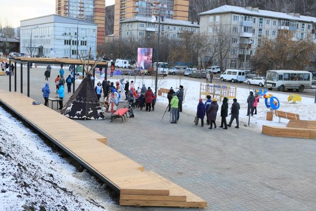 В Красноярске открыли сквер Универсиады