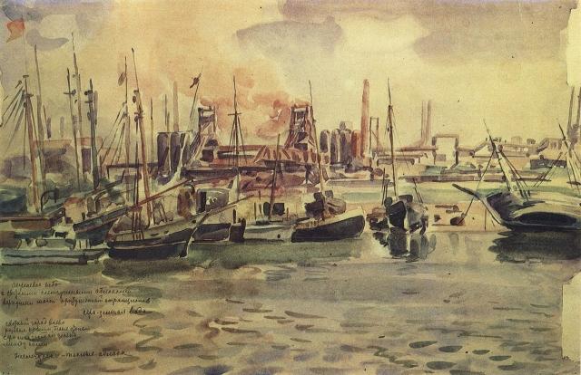 Константин Богаевский. Мариупольский порт. До 1947