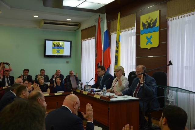 Заседание горсовета Оренбурга