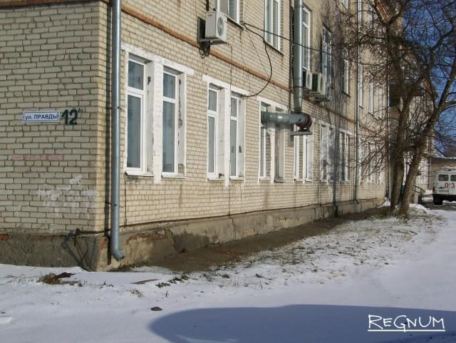 Фасад ЦРБ Топчихинского района
