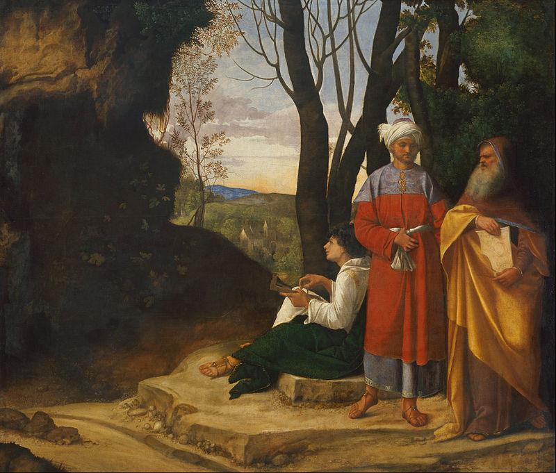 Джорджоне. Три философа. 1505–1509