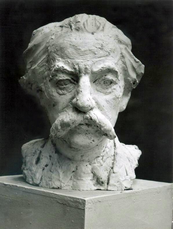 Лев Разумовский. Скульптурный портрет Юрия Лотмана. 1980