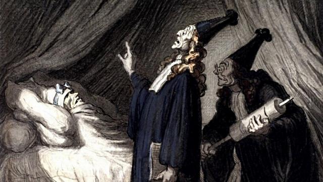 Оноре Домье. Мнимый больной. 1850
