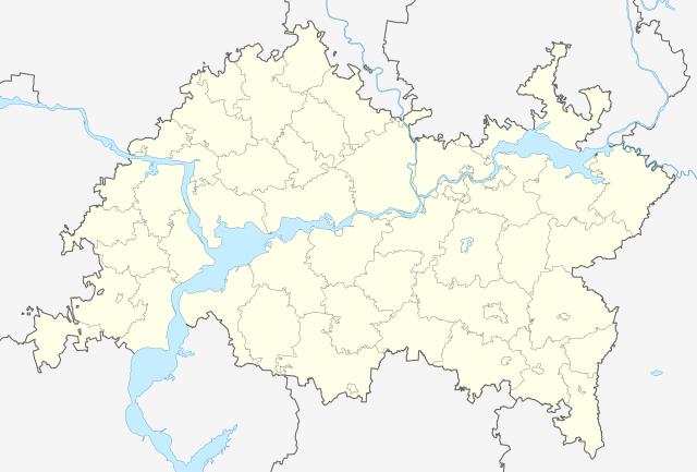 Татария на карте Российской Федерации