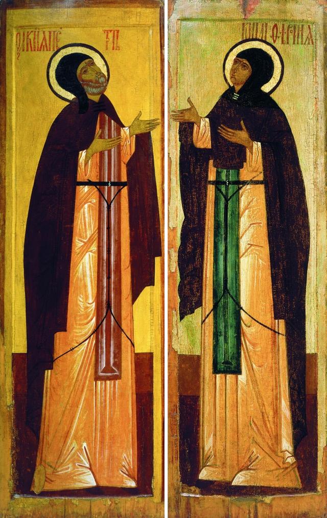Неизвестный автор. Князь Пётр и княгиня Феврония Муромские (икона). XVI век