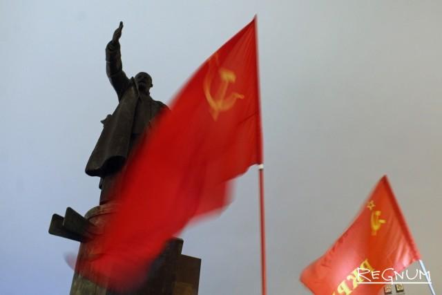 Акция левых сил Петербурга на площади Ленина