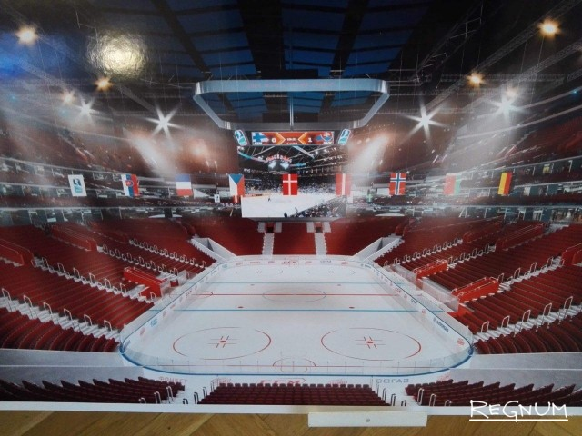 Интерьер новой арены на месте СКК