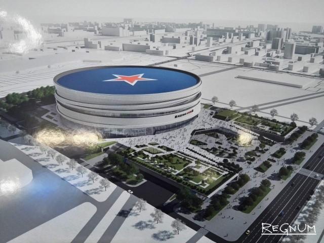Проект новой арены на месте СКК