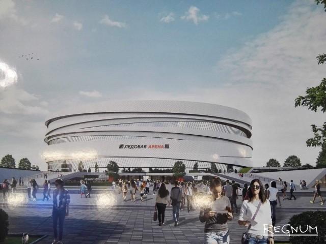 Эскиз новой арены на месте СКК