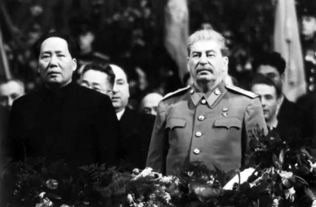 Мао Цзэдун и Иосиф Сталин