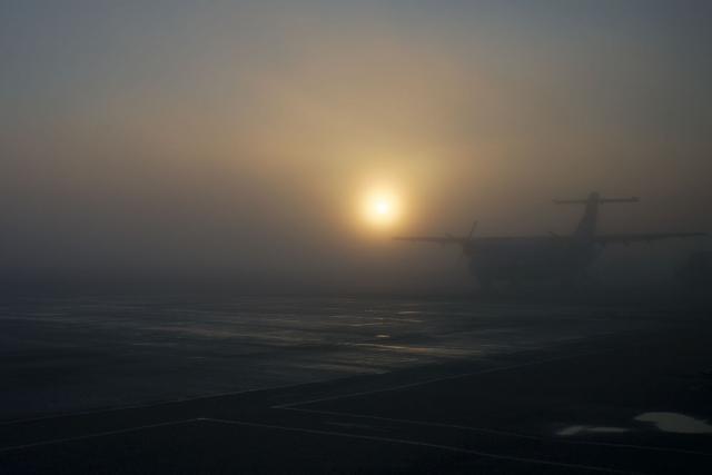Работа аэропорта Воронежа нарушена из-за сильного тумана
