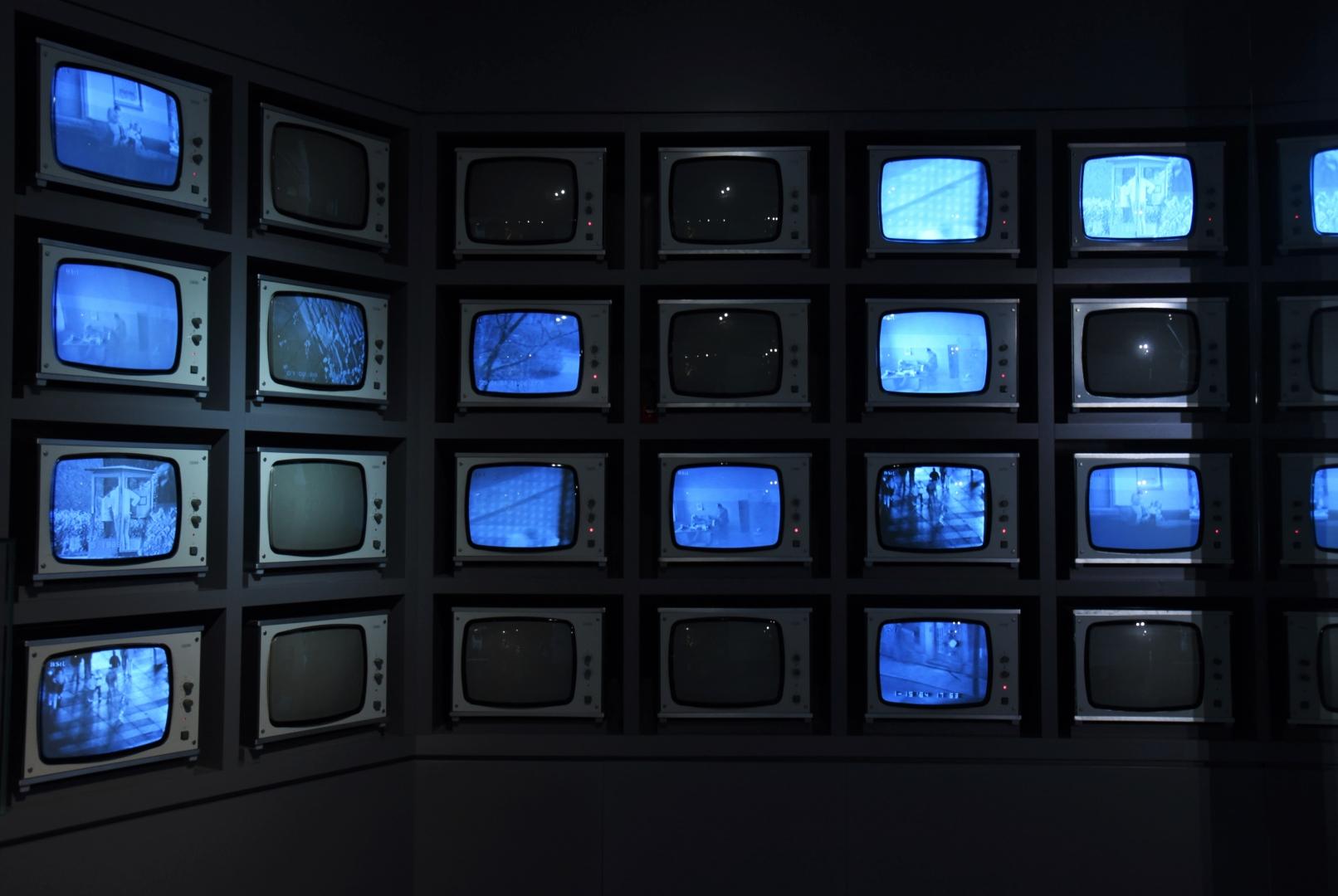 Камера наблюдения (Überwachungskamera). Один из экспонатов постоянной экспозиции выставки «Разделение и единство, диктатура и сопротивление» в Лейпциге (Leipzig)