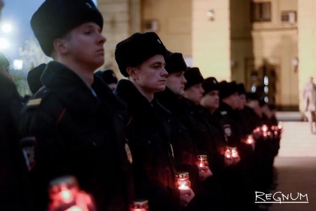 Акция «Свеча памяти» по погибшим при защите правопорядка