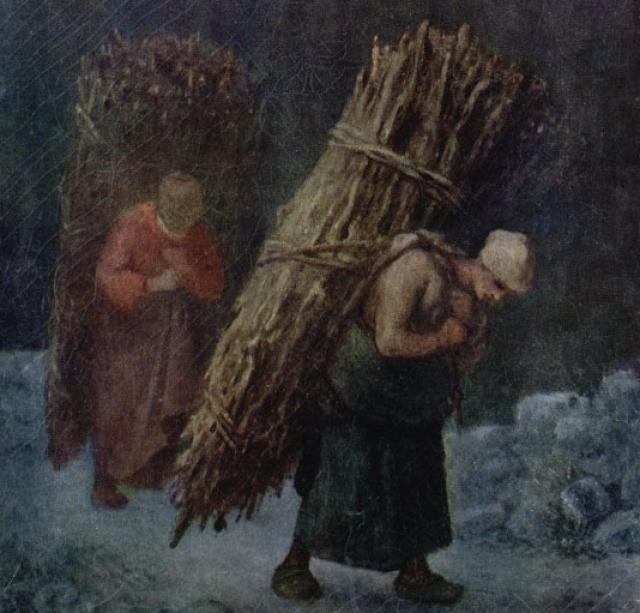 Жан Франсуа Милле. Крестьянки с хворостом. 1858