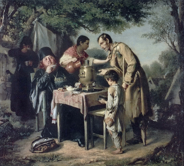 Перов Василий Григорьевич. Чаепитие в Мытищах, близ Москвы. 1862