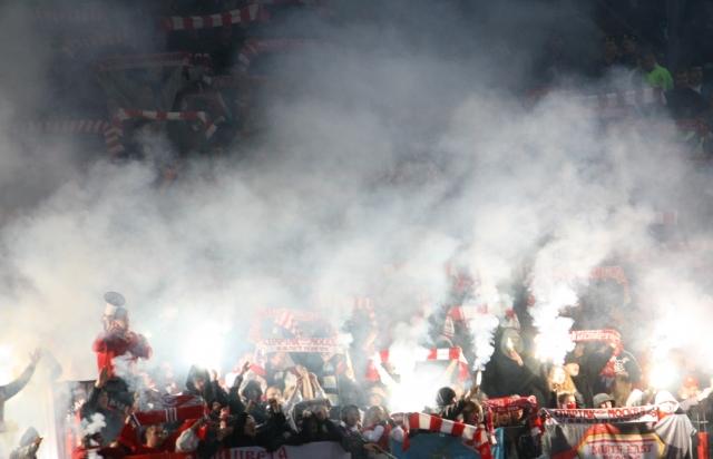 УЕФА может наказать «Спартак» за действия фанатов на матче с «Рейнджерс»