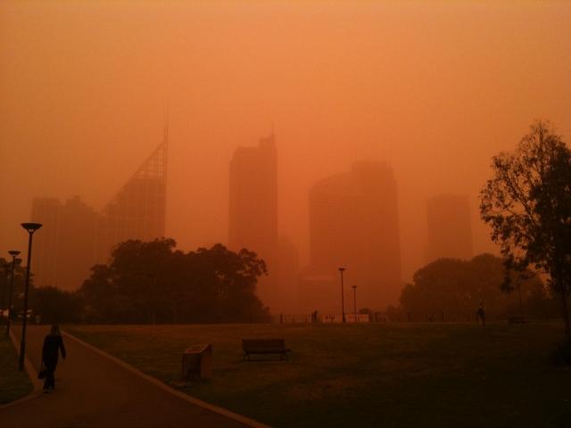 В интернете появилось видео пыльной бури, накрывшей австралийский город