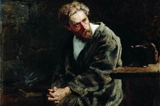 Константин Маковский. Узник (фрагмент). 1882