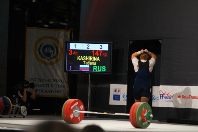 Татьяна Каширина победила на ЧМ по тяжелой атлетике в Ашхабаде