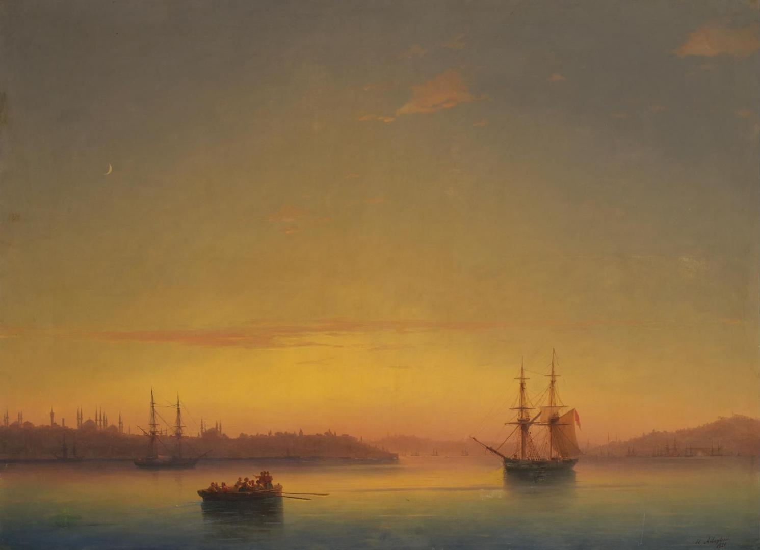 «Константинополь на рассвете», Иван Айвазовский, 1851 г