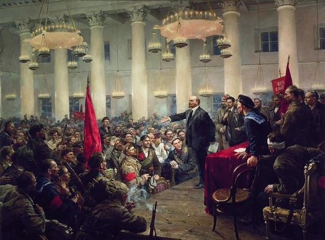 Владимир Серов. Выступление В.И. Ленина на II Всероссийском съезде Советов. 1955