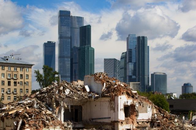 Москва-Сити и снос здания