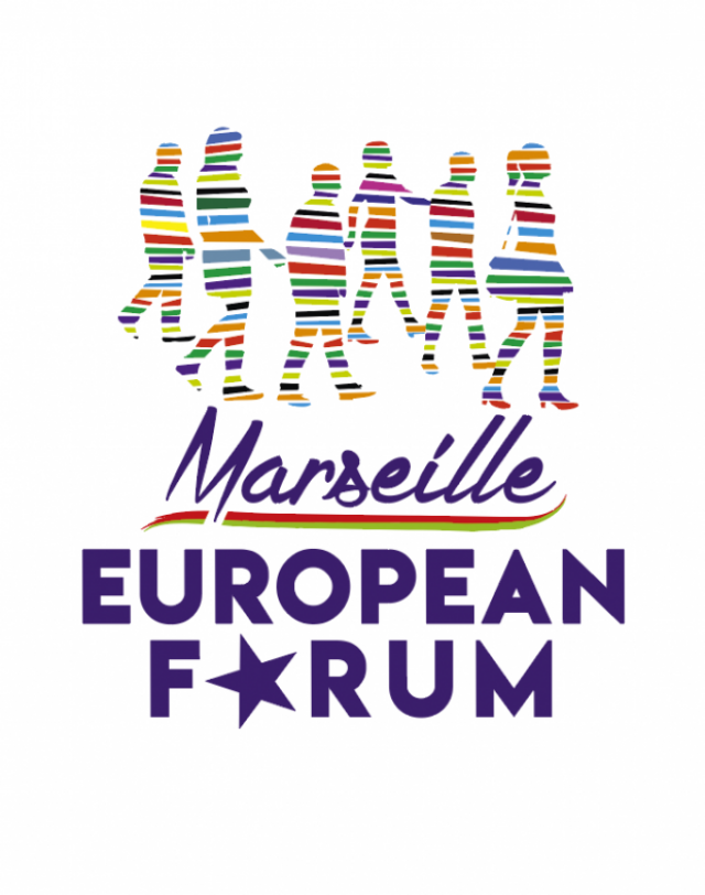 Эмблема  Европейского форума левых, зелёных и прогрессивных сил в Марселе. 2017