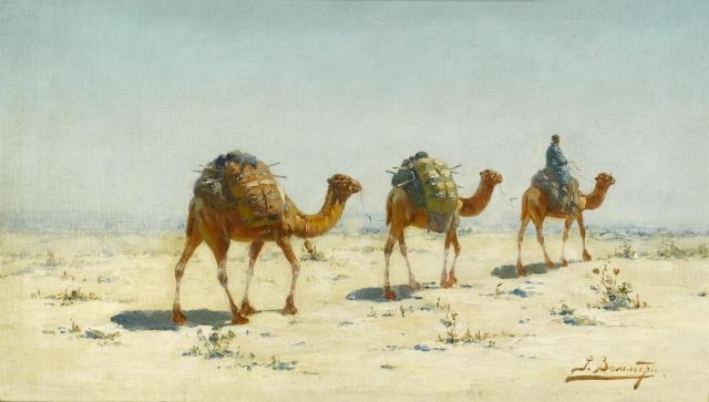 Рихард-Карл Зоммер. Караван в пустыне