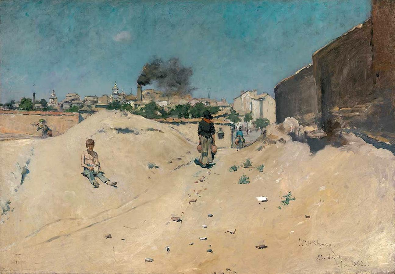 Уильям Чейз. Окраина Мадрида. 1882