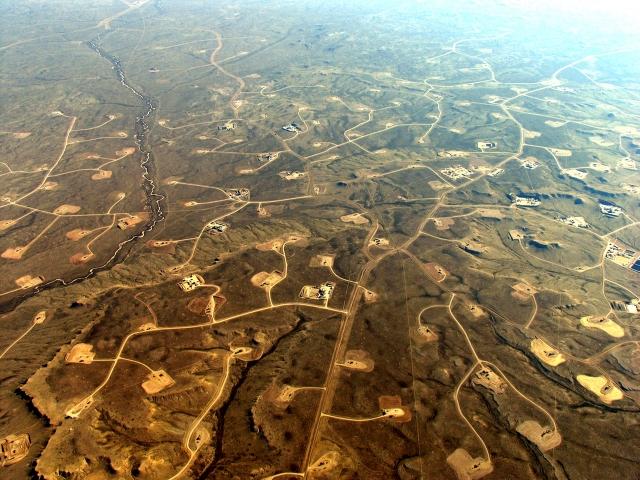 Формация Ниобрара, газовое месторождение Пайндейл (Pinedale), штат Вайоминг, США