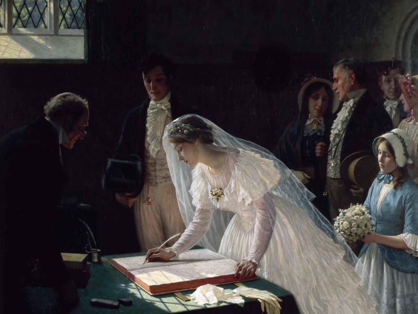Эдмунд Блэр Лейтон. Регистрация брака. 1880-е