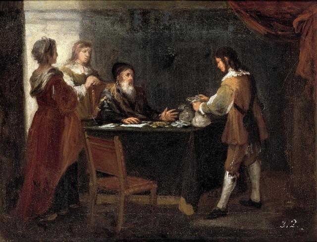 Бартоломе Мурилло. Блудный сын получает свою часть наследства. 1660