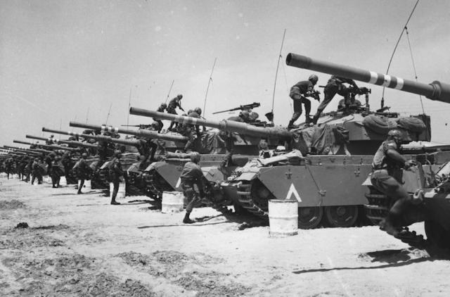 Израильские танкисты. Шестидневная война.1967